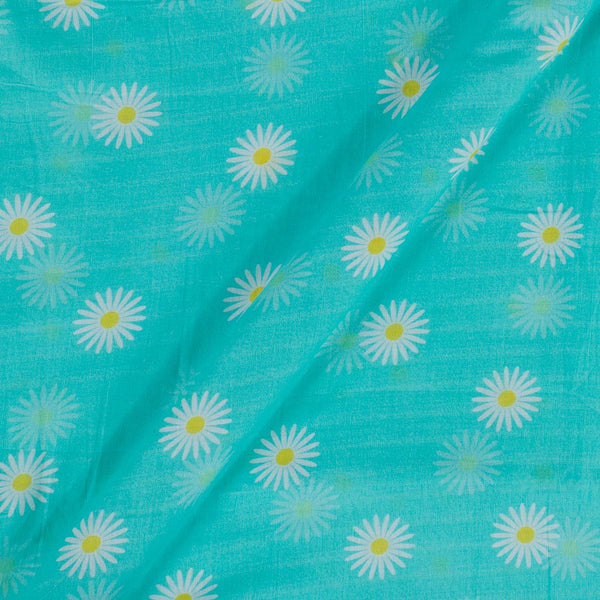 Cotton Mal  Mint Green Colour Floral Print  Fabric