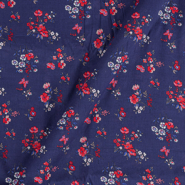 Cotton Mal [80 x 120] Violet Colour 43 inches Width Floral Print Fabric