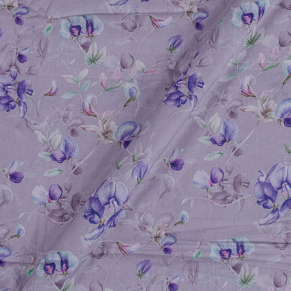 Cotton Mal [80 x 120] Lavish Lilac Colour Floral Jaal Print Fabric