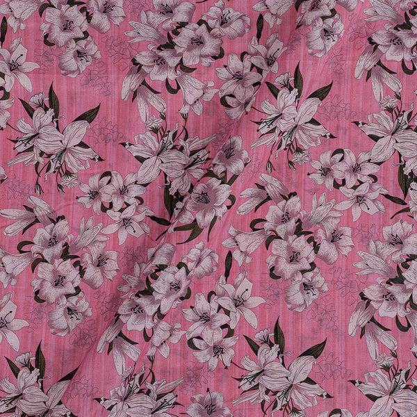 Cotton Mal [80 x 120] Pink Colour Floral Print Fabric