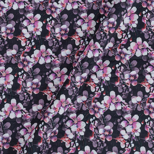 Cotton Mal [80 x 120] Wine Colour Floral Print Fabric