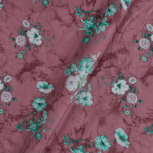 Cotton Mal [80 x 120] Dusty Rose Colour Floral Print Fabric
