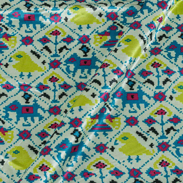 Gaji Patan Patola Print Off White Colour 45 Inches Width Fabric