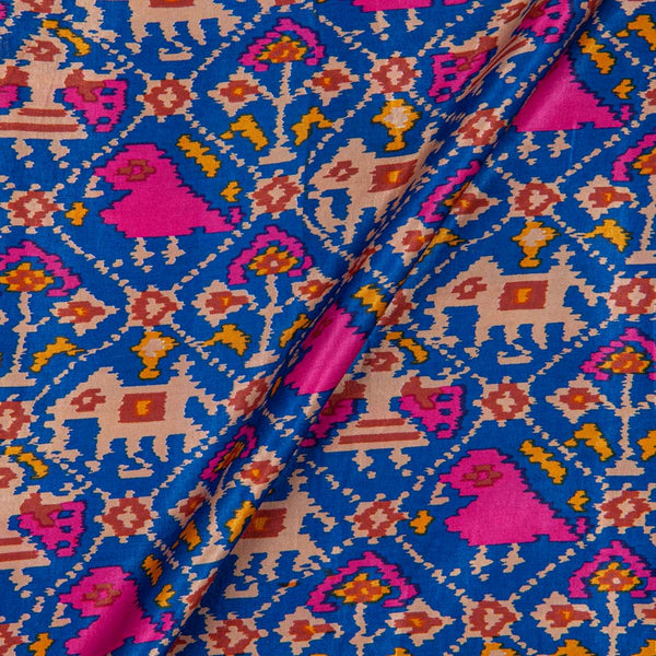 Gaji Patan Patola Digital Print Blue Colour 46 inches Width Fabric