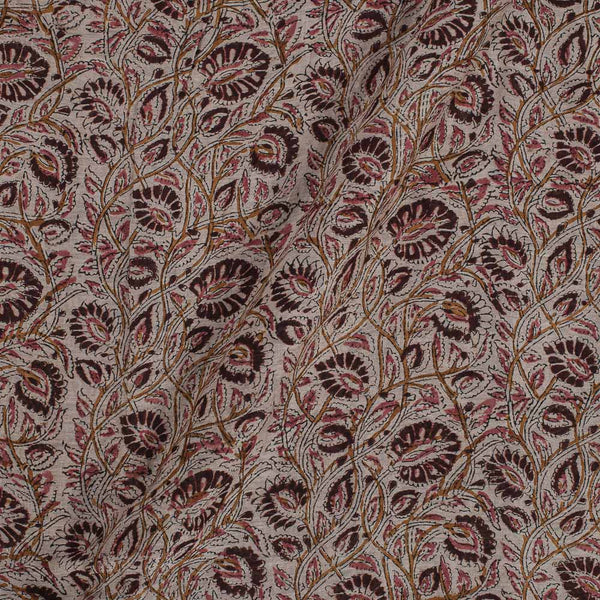 Kora Chanderi Feel Off White Colour 43 Inches Width Floral Jaal Kalamkari Fabric