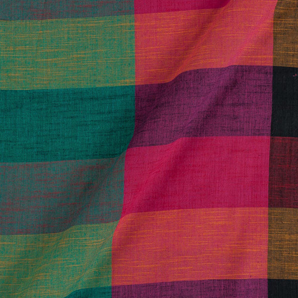 Slub Cotton Multi Colour Rangoli Big Checks Fabric
