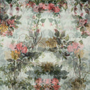 Poly Organza Off White Colour 45 Inches Width Digital Floral Print Fabric