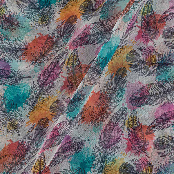 Viscose Chiffon Multi Colour 40 inches Width Digital Print Fabric