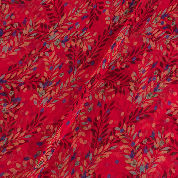 Viscose Chiffon Poppy Red Colour 38 Inches Width Digital Print Fabric
