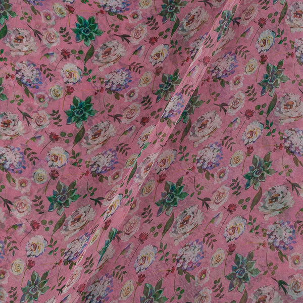 Viscose Chiffon Lavender Colour 40 Inches Width Digital Print Fabric