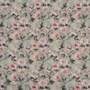 Smoke Grey Color Digital Floral Jaal Print 41 inches Width Viscose Georgette Fabric