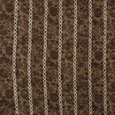 Mocha Colour Abstract Print Poly Muslin Fabric
