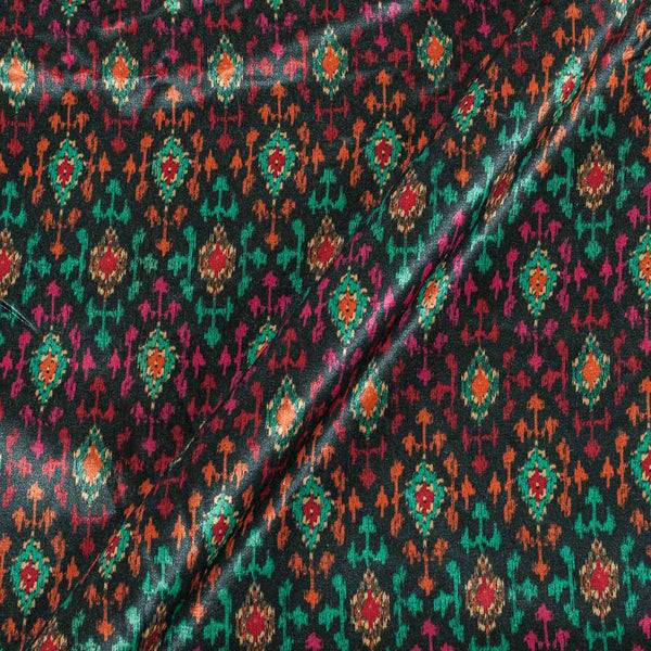 Gaji Black Colour Ethnic Print 45 Inches Width Fabric