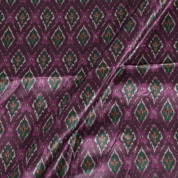 Gaji Plum Colour Ethnic Print Fabric
