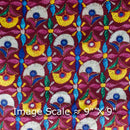 Gaji Multi Colour Ethnic Print Fabric