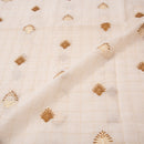 Dyeable Chanderi Embroidered Fabric