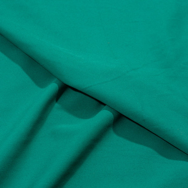 Green Colour Butter Crepe Fabric 38 inch Width