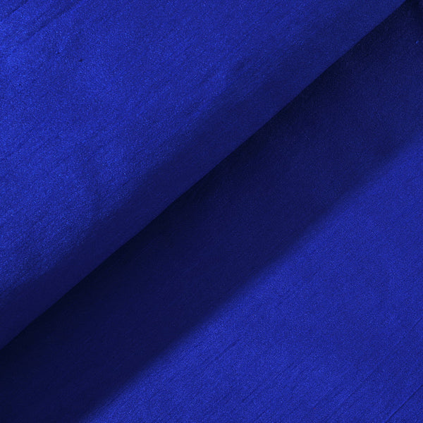 Royal Blue Poly Dupion Fabric