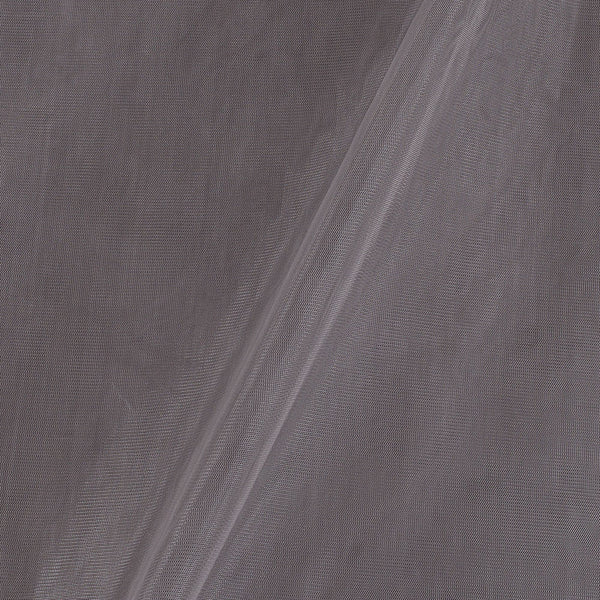 Mono Net Smoke Grey Colour Plain Dyed 45 Inches Width Fabric