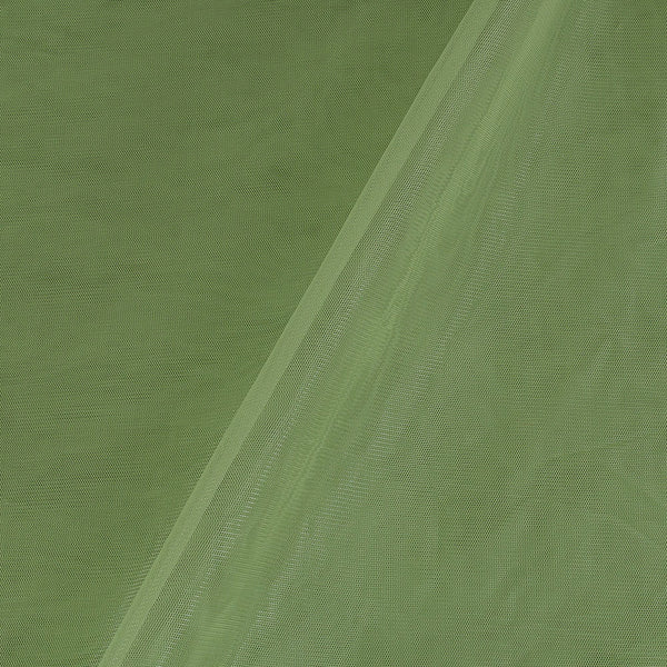 Mono Net Laurel Green Colour Plain Dyed 45 Inches Width Fabric