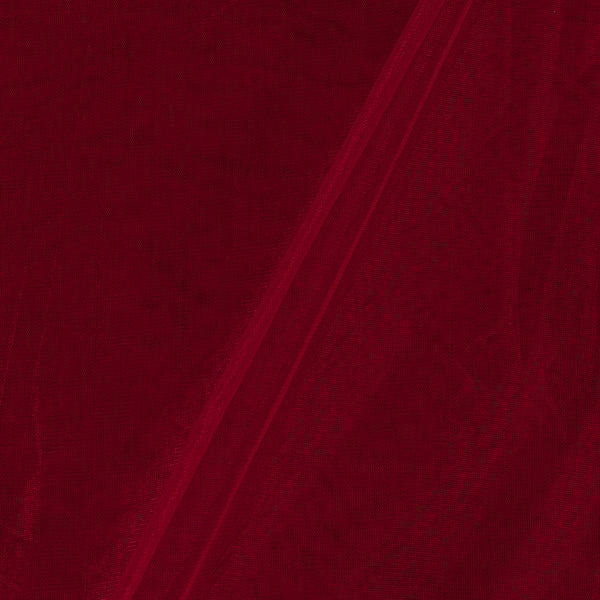 Mono Net Maroon Colour Plain Dyed 45 Inches Width Fabric