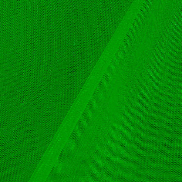 Mono Net Neon Green Colour Plain Dyed 45 Inches Width Fabric