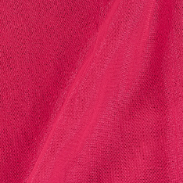 Mono Net Coral Colour Plain Dyed 45 Inches Width Fabric