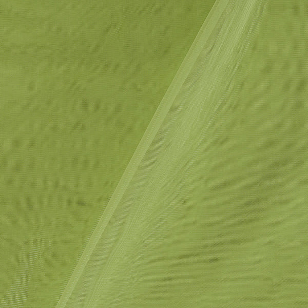 Mono Net Pastel Green Colour Plain Dyed 45 Inches Width Fabric