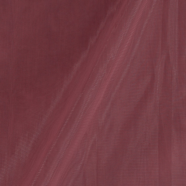 Mono Net Mauve Colour Plain Dyed 45 Inches Width Fabric