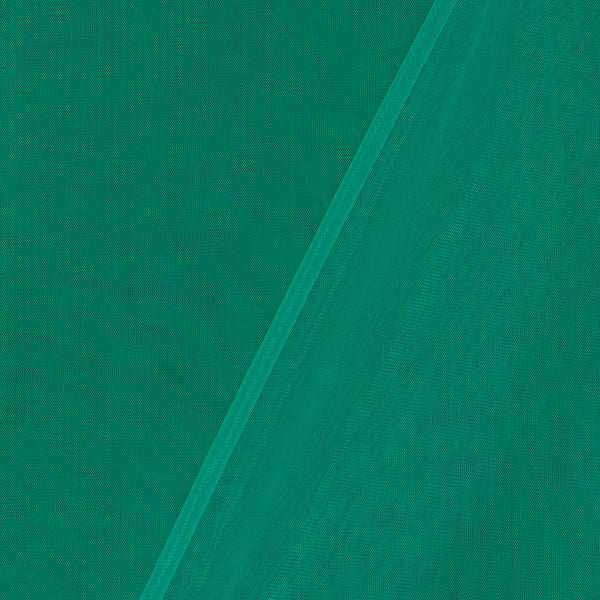 Mono Net Rama Green Colour Plain Dyed 45 Inches Width Fabric