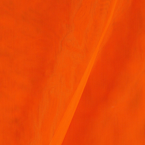 Mono Net Orange Colour Plain Dyed 45 Inches Width Fabric