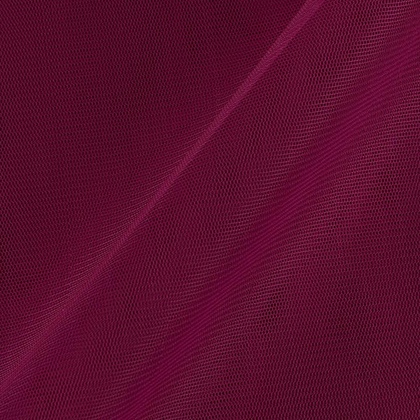 Mono Net Magenta Colour Plain Dyed 45 Inches Width Fabric