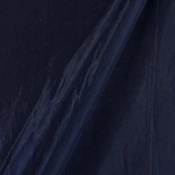 Mono Net Midnight Blue Colour  Plain Dyed 45 inches Width Fabric