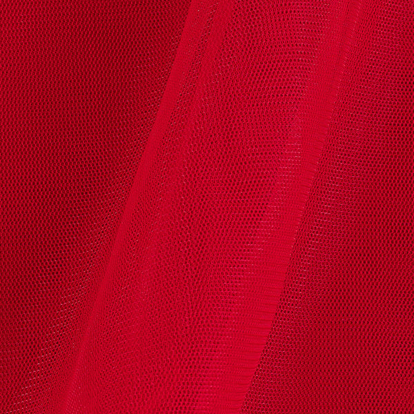 Mono Net Poppy Red Colour Plain Dyed 45 inches Width  Fabric