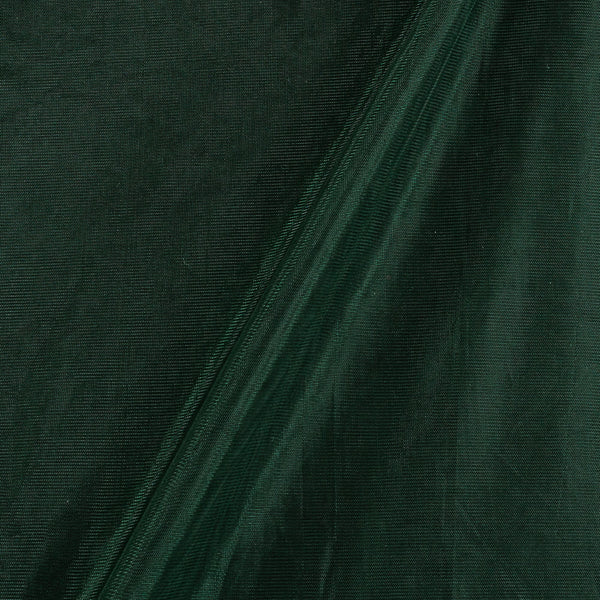 Mono Net Bottle Green Colour Plain Dyed 45 Inches Width Fabric