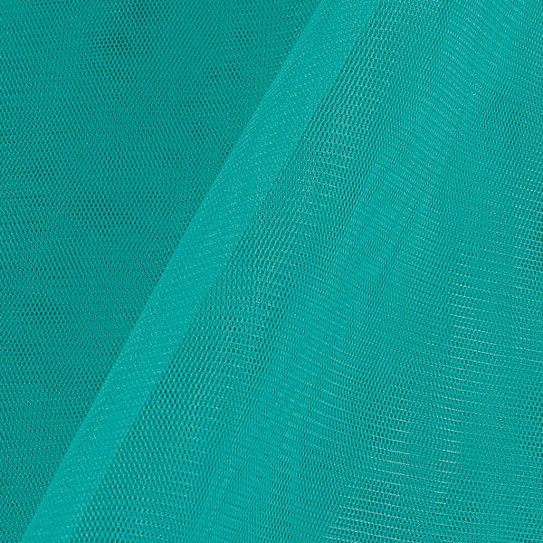 Mono Net Pool Blue Colour Plain Dyed 45 inches Width Fabric