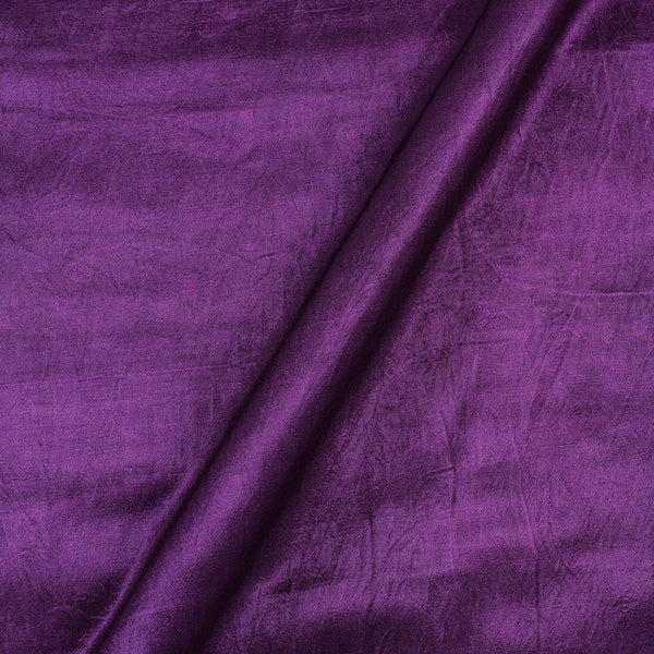 Mashru Gaji Imperial Purple Colour 45 inches Width Dyed Fabric
