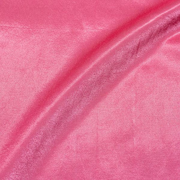 Gaji Rose  Pink Colour  45 Inches Width Dyed Fabric