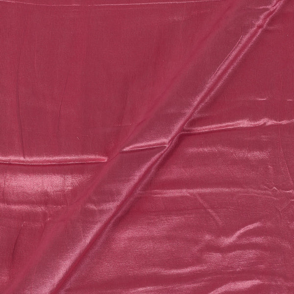 Gaji Coral Pink Colour  45 Inches Width Dyed Fabric