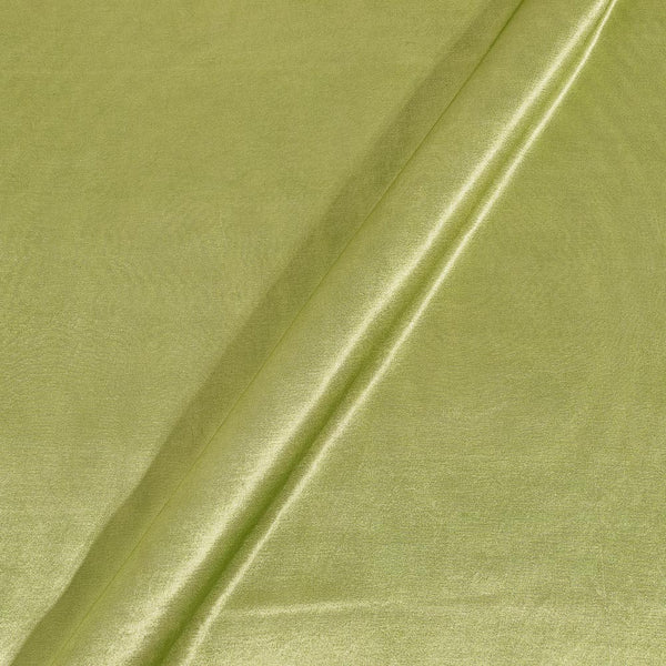 Mashru Gaji Pale Lime Yellow Colour 45 inches Width Dyed Fabric
