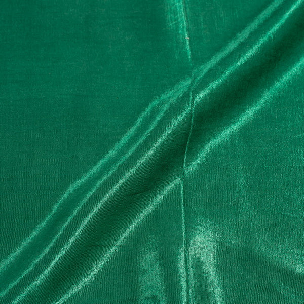 Seaweed Green Colour Mashru Gaji Dyed Fabric
