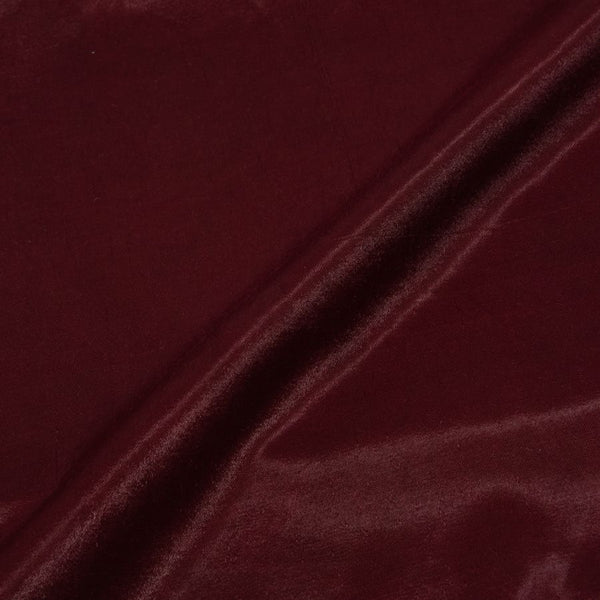 Mashru Gaji Plum Colour 45 inches Width Dyed Fabric