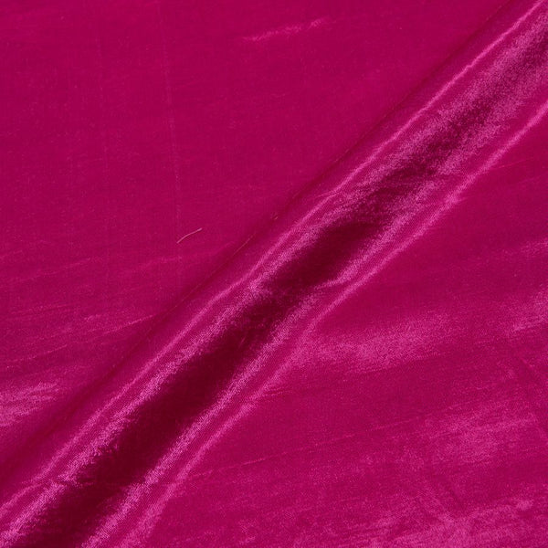 Mashru Gaji Hot Pink Colour 45 inches Width Dyed Fabric