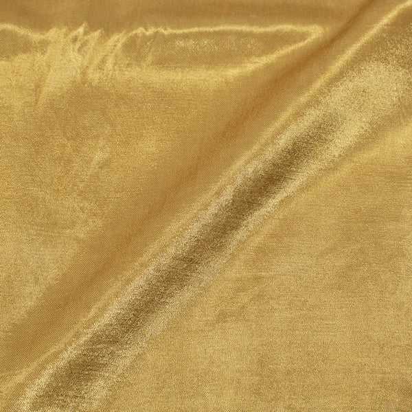 Dark Khaki Green Mashru Gaji Dyed  Fabric