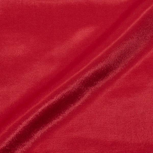 Bright Red Colour Mashru Gaji Dyed Fabric cut of 0.55 Meter