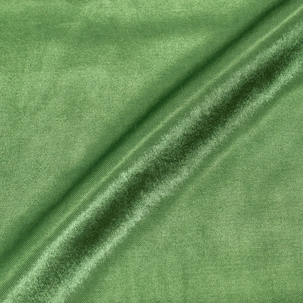 Grass Green Colour Mashru Gaji Dyed Fabric