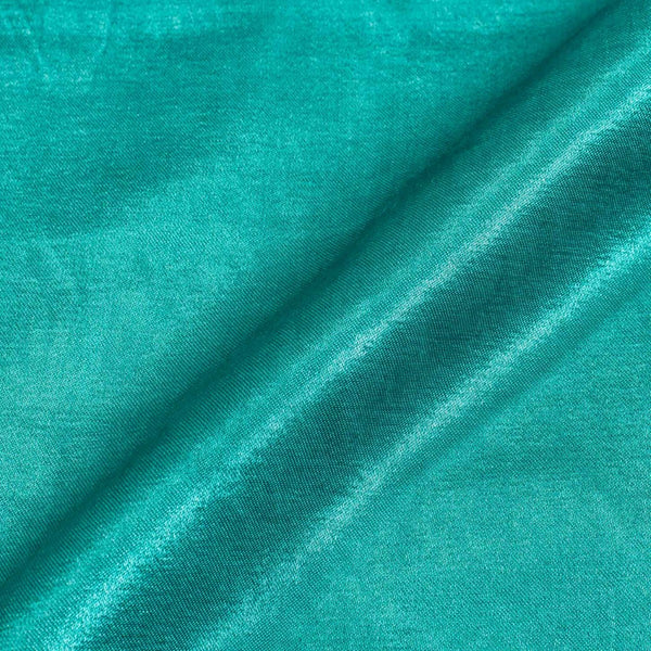 Turquoise  Colour Mashru Gaji Dyed Fabric