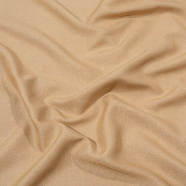 Rayon Beige Gold Colour 42 inches Width Plain Dyed Fabric