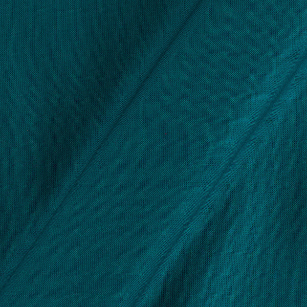 Rayon Teal Blue Colour 43 inches Width Plain Dyed Fabric