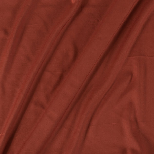 Rayon Rust Brown Colour 43 inches Width Plain Dyed Fabric
